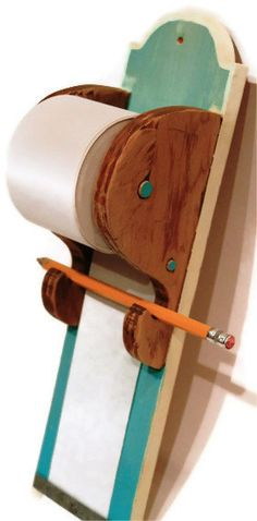 Hanging Note Paper Roll Scroll Grocery List by DelightfulUpcycle