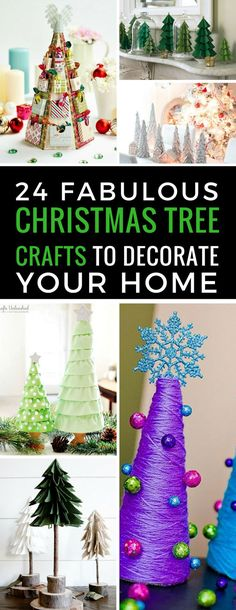 These Christmas Tree crafts are stunning - and look like something from an expensive store! Can't wait to make them! Thanks for sharing!