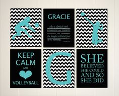 volleyball girls art volleyball room decor keep calm volleyball player girls quote art choose your sports and colors - Volleyball Bedroom Decor