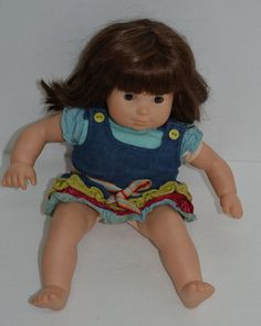 "American Girl Doll Bitty Twins Baby Girl Bitty Brown Hair & Eyes Dress Flaws 14"" #Dolls http://stores.ebay.com/Lost-Loves-Toy-Chest/_i.html?image2.x=0&image2.y=0&_nkw=american+girl"