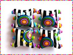 """Funky Zebra"" Pillow beads 