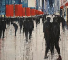 Together we are many, oil o by lesley-oldaker We Are Many, Urban Landscape, Contemporary Artists, All Art, Tattoo Artists, Fine Art America, Oil On Canvas, Saatchi Art, Moose Art