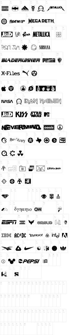 Famous Logos font for vectors