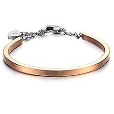 Special Gifts Gold Plated Titanium Steel Bangle Bracelet for Girls Boys Men Women | Amazon Promo Code