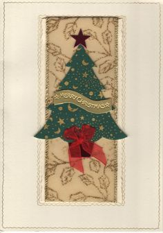Christmas card - Christmas tree ribbon