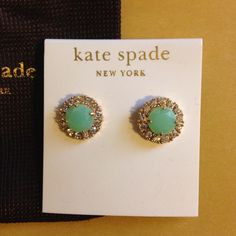 Kate Spade NWT green earrings Hello! Comes with dust bag as shown. kate spade Jewelry Earrings