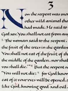 Donald Jackson, calligrapher. St. John's Bible.