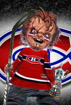 Montreal Canadiens, Chucky, Hockey Players, Ice Hockey, Horror Movies, Kids Playing, Nhl, Superhero, Artwork