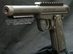 Clark Custom Ruger MkIII 22/45 match grade threaded barrel scope base tactical accessory rail