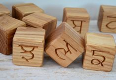 35 Punjabi Alphabet Wooden Blocks Toy Blocks by KlikKlakBlocks