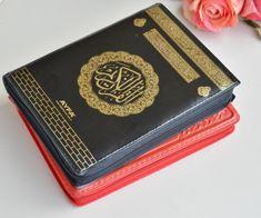 Red Medium holy Quran, Religious Mini Size Holy Book, Muslim Woman Embossed Pray Book, Whole Kuran Book,Quran For Bag, Ramadan Eid Gift Book