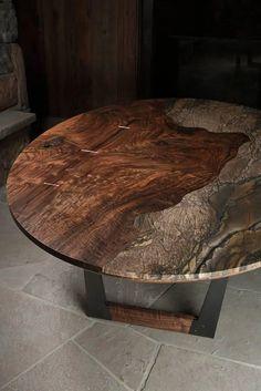 Granite Coffee Table, Granite Dining Table, Diy Dining Table, Dining Table Design, Wood Table, Coffee Tables, Walnut Furniture, Plywood Furniture, Dining Furniture