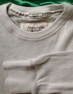 New #Abercrombie & Fitch #Men XXL 2XL #Muscle Shirt Long Sleeve Beige #Thermal Knit