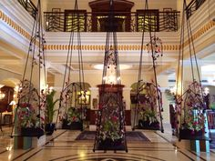 Flower arrangement in the lobby of The Imoerial Palace Hotel in New Delhi
