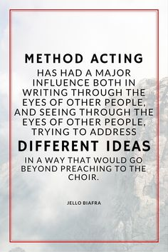 Are you into method acting? Are you aware of its influences to both the actor and the audience? Re-pin this post to your reflection board.