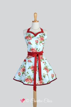 Etsy listing at https://www.etsy.com/listing/209345002/sweetheart-retro-apron-vintage-crimson