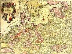 1708 - Teatre de la Guerre des Couronnes du Nord #map #europe