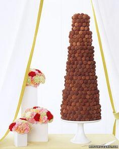Truffle Wedding Cake-Chocolate Wedding Cakes | Martha Stewart Weddings