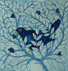 Bird in a Bush by Victoria Keeble. Like the idea of a bird figure emerging from behind a bed of leaves.