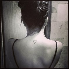 I really want a triangle tattoo.. Strength under pressure/change.. Seems fitting.