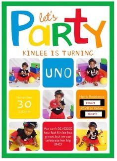 First 1st Birthday Invitation Uno Party Invitations