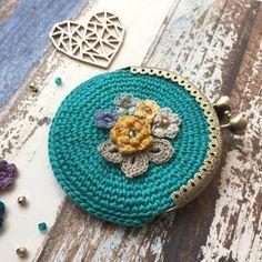 crochet coin purse crochet project by Anushka knitting & crochet Crochet Wallet, Crochet Coin Purse, Crochet Purses, Crochet Hooks, Crochet Baby, Knit Crochet, Crochet Earrings, Coin Purse Pattern, Coin Purse Tutorial