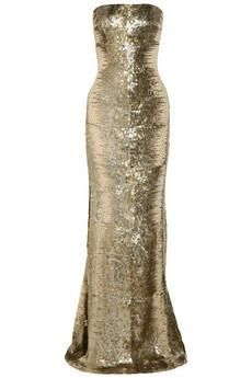 KAUFMANFRANCO Sequin-embellished silk-chiffon gown