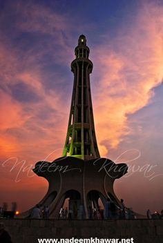 Minare Pakista | Minar-e-Pakistan (or Yadgaar-e-Pakistan) is a tall minaret in Iqbal Park Lahore, built in commemoration of the Lahore Resolution. The minaret reflects a blend of Mughal and modern architecture, and is constructed on the site where on March 23, 1940, seven years before the formation of Pakistan, the Muslim League passed the Lahore Resolution (Qarardad-e-Lahore), demanding the creation of Pakistan.[1] This was the first official declaration to establ...