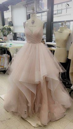 Gorgeous A-line V-neck Spaghetti Straps Long Wedding Dress,2017 Wedding Dress,Pink Wedding Dress,Long Wedding Dress,White Wedding Dress,Champagne Wedding Dress