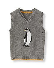 Preppy Penguin sweater and other holiday party outfits for boys