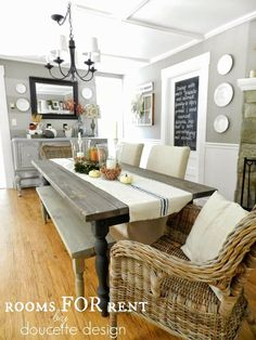 The Plain Wood Table   Pinterest   Wicker chairs, Rustic farm table ...