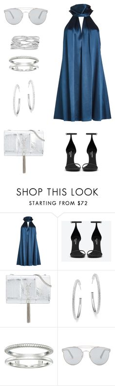 """""""Untitled #1009"""" by gigi3646 ❤ liked on Polyvore featuring Galvan, Yves Saint Laurent, Adriana Orsini, Shinola, Gentle Monster and M&Co"""