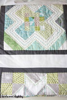 cross quilt with hand quilting from the Little Miss Shabby blog