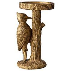 Patch Woodpecker Candleholder - Gold