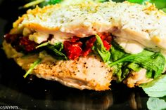 Spinach, Sun Dried Tomato, and Goat Cheese Stuffed Chicken