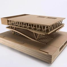 Model by  @p.grandits and @stefanmandls #architects with whom we collaborates in other projects #SynaCollaborators fascinating mdf model #archimodel #sudent #archistudent #SYNAblog #archigram Cultural Architecture, Maquette Architecture, Library Architecture, Wooden Architecture, Architecture Concept Drawings, Interior Architecture, Architecture Models, Auditorium Architecture, Security Architecture
