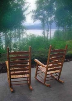 Rocking Chairs.  I had a dream at an early age that I would grow old with someone in chairs like this.