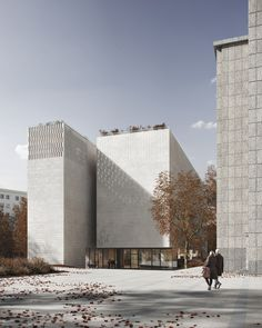 Gallery of Heinle, Wischer und Partner Design a New Art Museum in Krakow, Poland - 10 Cultural Architecture, Romanesque Architecture, Education Architecture, Classic Architecture, Residential Architecture, Architecture Design, Monumental Architecture, Public Architecture, Architecture Diagrams