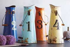 Cute table numbers for a vintage inspired wedding