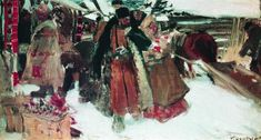 Boris Kustodiev. At marketplace 1902-1903