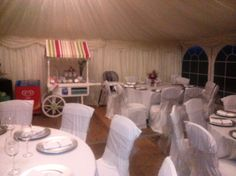 Chair Covers and Sashs & Round Tables Wedding Marquee Hire, Cork Wedding, Marvel Wedding, Round Tables, Chair Covers, Luxury Wedding, Chair Sashes, Round Table Top, Chair Upholstery
