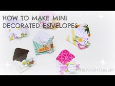 DON'T TRASH THOSE SCRAPS|HOW TO MAKE MINI DECORATED ENVELOPES - YouTube