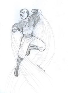 Aang bending like a boss