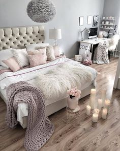 23 key pieces of glam bedroom decor glitter sparkle girly Glam Bedroom, Home Decor Bedroom, Living Room Decor, Bedroom Modern, Diy Bedroom, Trendy Bedroom, Ivory Bedroom, Cream And White Bedroom, Fancy Bedroom