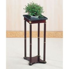 Coaster Green Snack Table / Plant Stand, Marble Top with A Cherry Finish Base, Square Coaster Home Furnishings,http://www.amazon.com/dp/B0002KNQC2/ref=cm_sw_r_pi_dp_dewatb1PWHXAE4NB