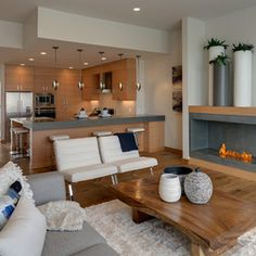 I love everything about this.  contemporary living room by Maric Homes