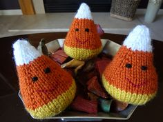 These are so cute and I'm finding myself making an army of them for fall decorations and to give to friend's kids. They go together fast and you can make a dozen or more with the yarn! Try making them in different colors, I'd love to see them changed up.
