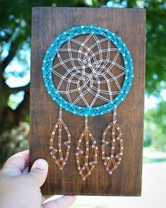 Made to order dream catcher string art by strungonnailsshop