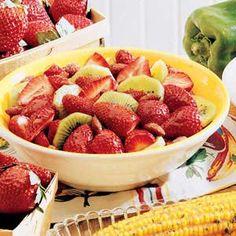 Strawberry Kiwi Dessert Recipe I threw in other fruit like blueberry's, blackberry's and raspberry's