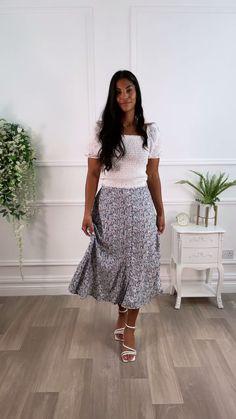 Midi skirt, floral skirt, skirt outfit ideas, skirt outfit, Classy outfit, going out outfit, occasion dress